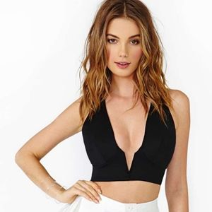 nasty gal in deep crop new